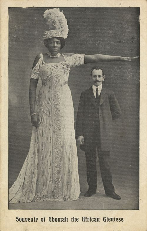 Mme. Abomah - The tallest woman Amazon Giantess.  She came from Laurence County, SC