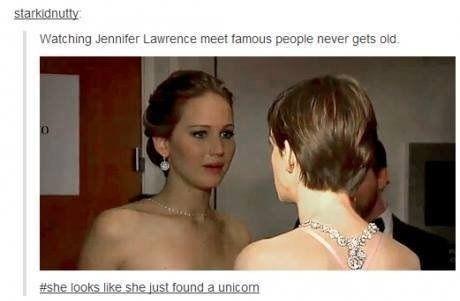 jennifer lawrence quotes | Jennifer Lawrence Meeting Celebs