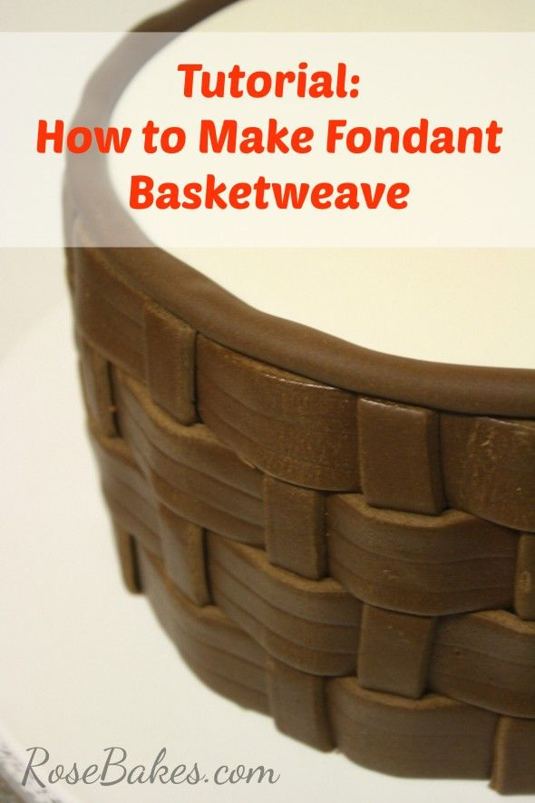 How to Make Fondant Basketweave