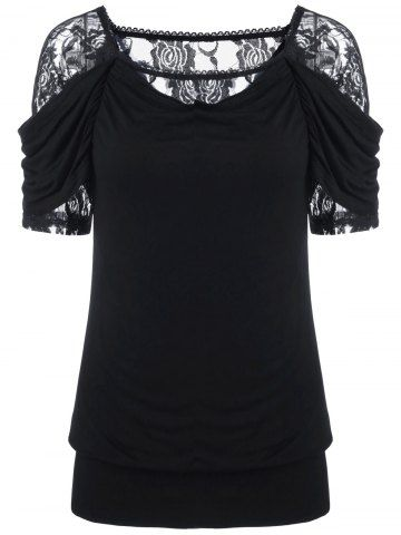 GET $50 NOW | Join RoseGal: Get YOUR $50 NOW!http://www.rosegal.com/t-shirts/lace-trim-ruched-t-shirt-1072926.html?seid=8569013rg1072926