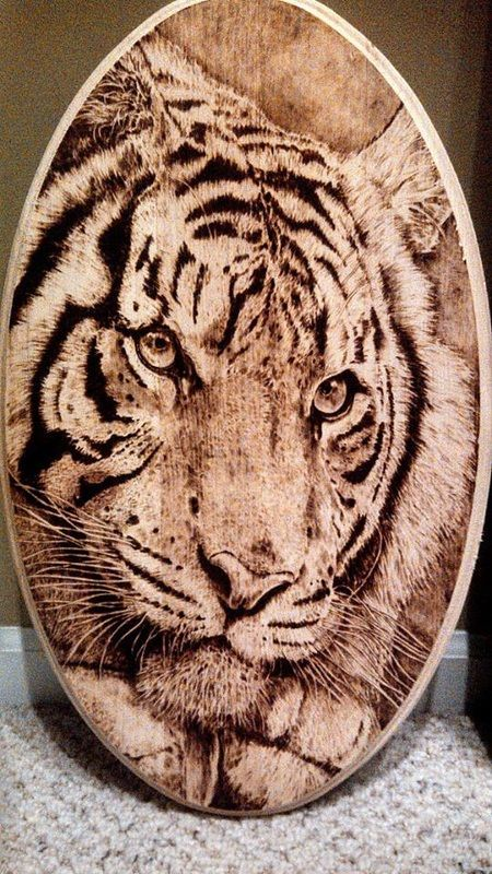 Justin Dillenbeck Pyrography and illustration