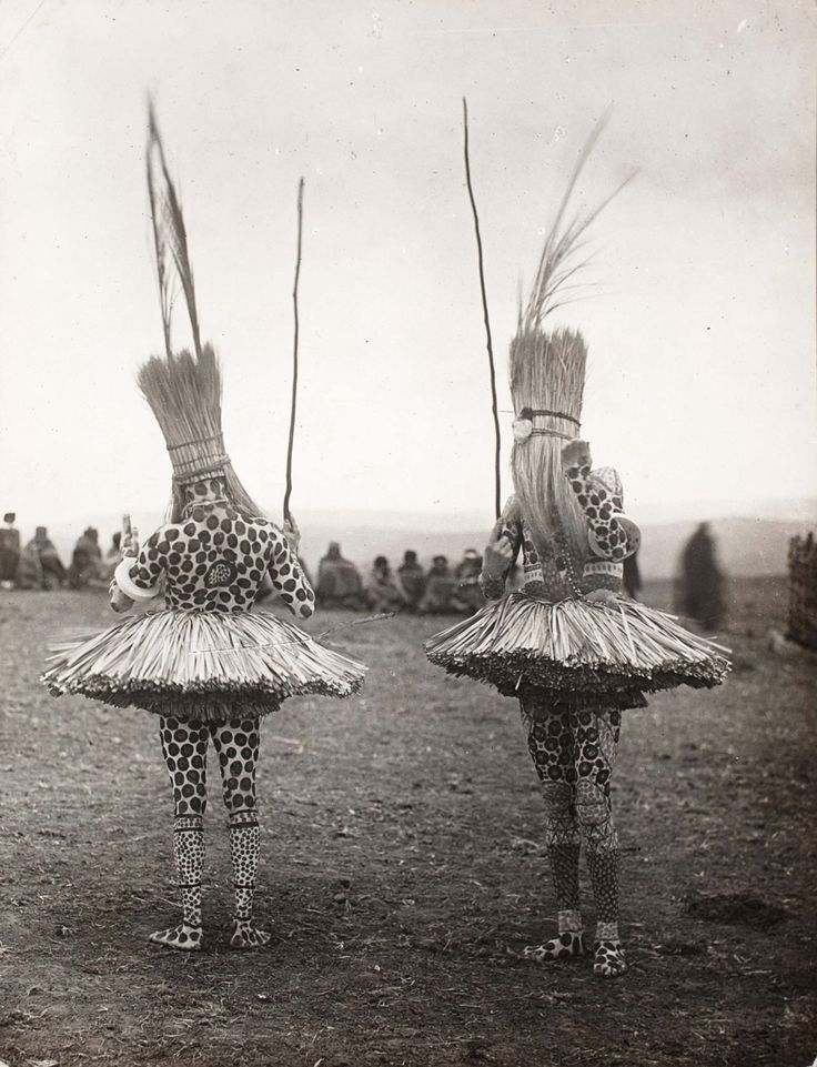 """Photographs from Distance and Desire: Encounters with the African Archive: http://nyr.kr/10VCuoK This photo: A.M. Duggan-Cronin, """"Bomvana Initiates,"""" South Africa, c. 1930."""