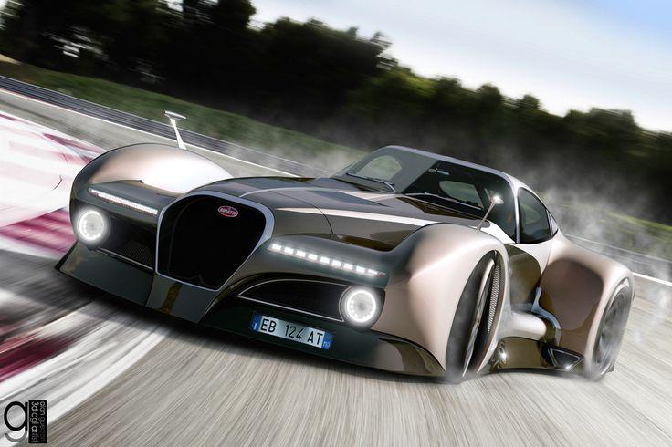 Bugatti Concept Cars 2014 | 2014 Bugatti 12.4 Atlantique Concept Car by Alan Guerzoni. Hypercars ...