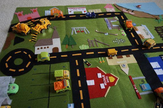 Mat-stad Fold omhoog spelen Mat/Roll-Up Play Mat/weg spelen