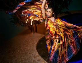 Kaftan - Siren by @Colin Heaney in satin silk