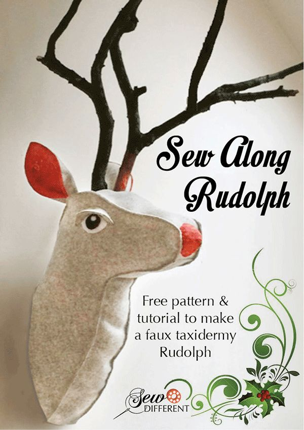 2-hour sewing pattern, what every modern home needs on their wall for Christmas!
