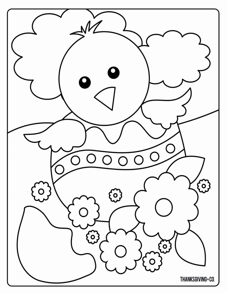 Small Detailed Coloring Pages for Kids in 2020 | Easter ...