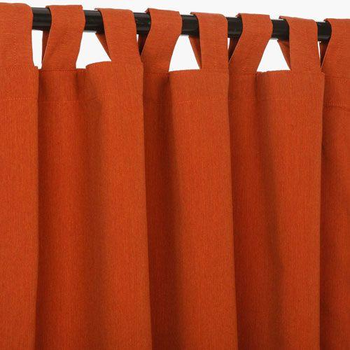 Sunbrella Curtains with Tabs Brick