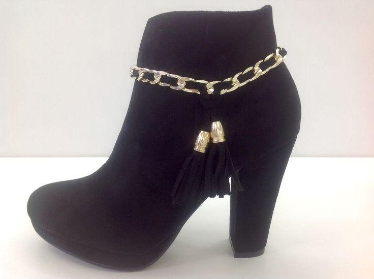 Botin Cierre Dorado Lateral Negra Party Shoes lkCYk3eB