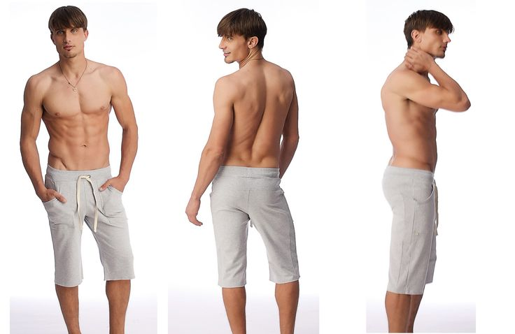 Eco-Track Men's Short for Yoga & Fitness  (Solid Heather Grey) | See more at - http://yoga-eco-clothing.com/product/mens-yoga-shorts/