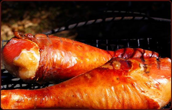 Amusement parks and fairs have given smoked turkey legs a cult-like following, with some people offering money online for a recipe that mimics the legs sold at Disneyland. The secret is to soak the legs in brine for 24 hours, then smoke them low and slow. The flavor is ham-like, and very addictive.