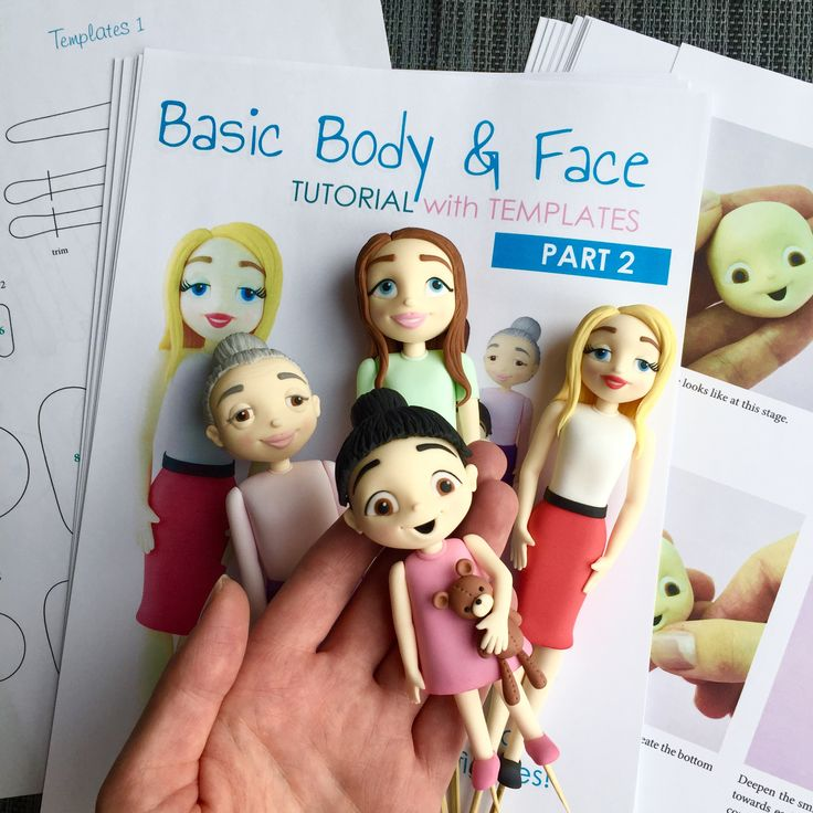 PDF TUTORIAL - Basic Body & Face tutorial - part 2 - female figures - cake toppers