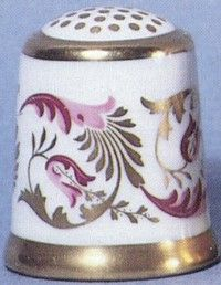 Royal Crown Derby Thimbles - The Purple Scroll 1947
