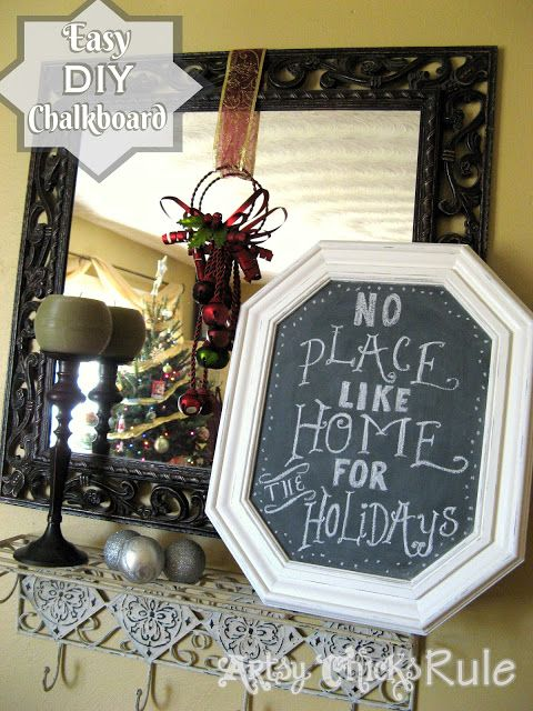 DIY Chalkboards From Old Framed Prints/Pictures from the thrift store...Easy!  #chalkpaint #chalkboard