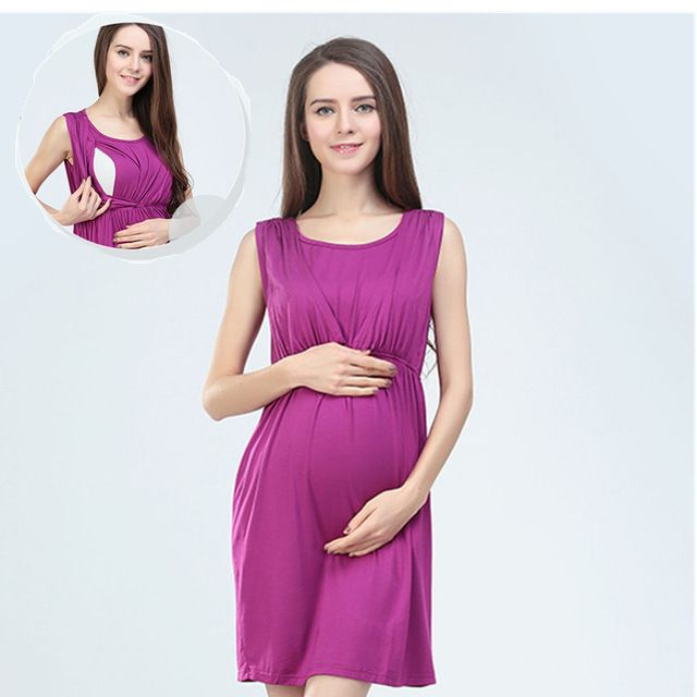 76ebf545e Algodão verão vestido de Maternidade gravida vestidos de enfermagem materno  roupas para mulheres grávidas Maternidade roupas gravidez alimentação