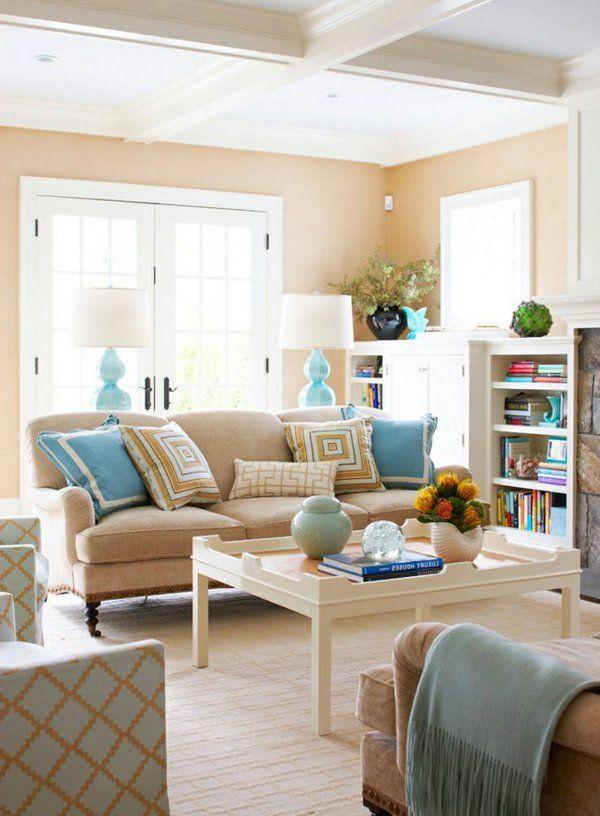 Die besten 25+ Sofa beige Ideen auf Pinterest Beige couch, beige - wohnzimmer braun beige modern