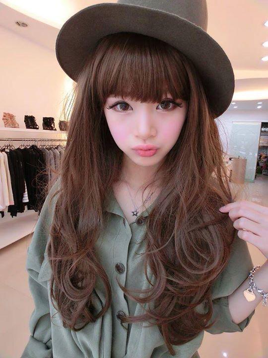 Kawaii Cute Girl Chinese Net Idol Chinese Fashion Fei Zhu -5478