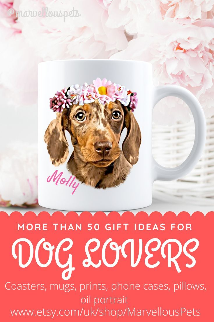 Dog Lovers Custom Pet Illustrated Coffee Mug For More Products Please Visit My Etsy Shop Www Etsy Com Uk Shop Marvellousp In 2020 Dog Lovers Pets Dog Gifts