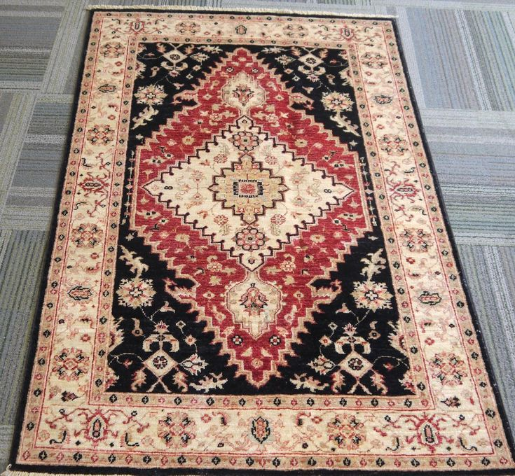 "NR: 20643 Location: Chobi Ziegler  Size: 5'0"" x 3'3"" Country: Afghanistan Pile: Wool Base: Cotton"