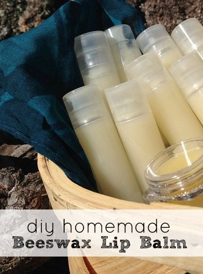 DIY Beeswax Lip Balm - very cheap to make and makes great gifts! You can even make your own scent/flavor with your favorite essential oils.