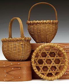 Miniature Shaker basketsBaskets I, Miniature Baskets Art, Beautiful Baskets, Shakers Baskets, Handmade Baskets, Home Decor, Baskets Cases, Minis Baskets, Miniatures Shakers