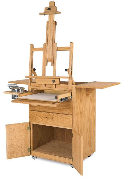 Luxury Gifts Ideas for Artists: When Money's No Object: Combined Taboret and Easel Workstation