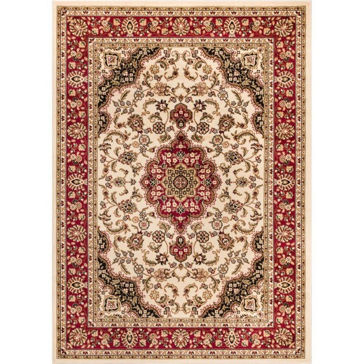 Barclay Medallion Kashan Ivory 7 Ft 10 In X 9