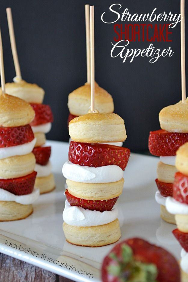 Turn strawberry shortcake into and appetizer that your guests will love.