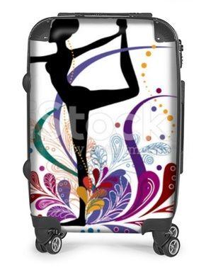 Réf: 5678 - Valise à roulette Danseuse classique - Ballet opéra arc en ciel et chausson magique - 250€ #valise#roulette#chausson#danse#ballerine#ballerina#opéra#repetto#danseur#danseuse#imprimé#motif#suitcase#dancer#shoe#paris#lac#cygne#tutu#idée#cadeau#swans#classique#classical#lake#