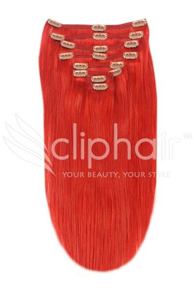 The 25 best red hair extensions ideas on pinterest red hair red 20 inch full head set clip in hair extensions quality real human hair extensions from clip hair ltd pmusecretfo Gallery