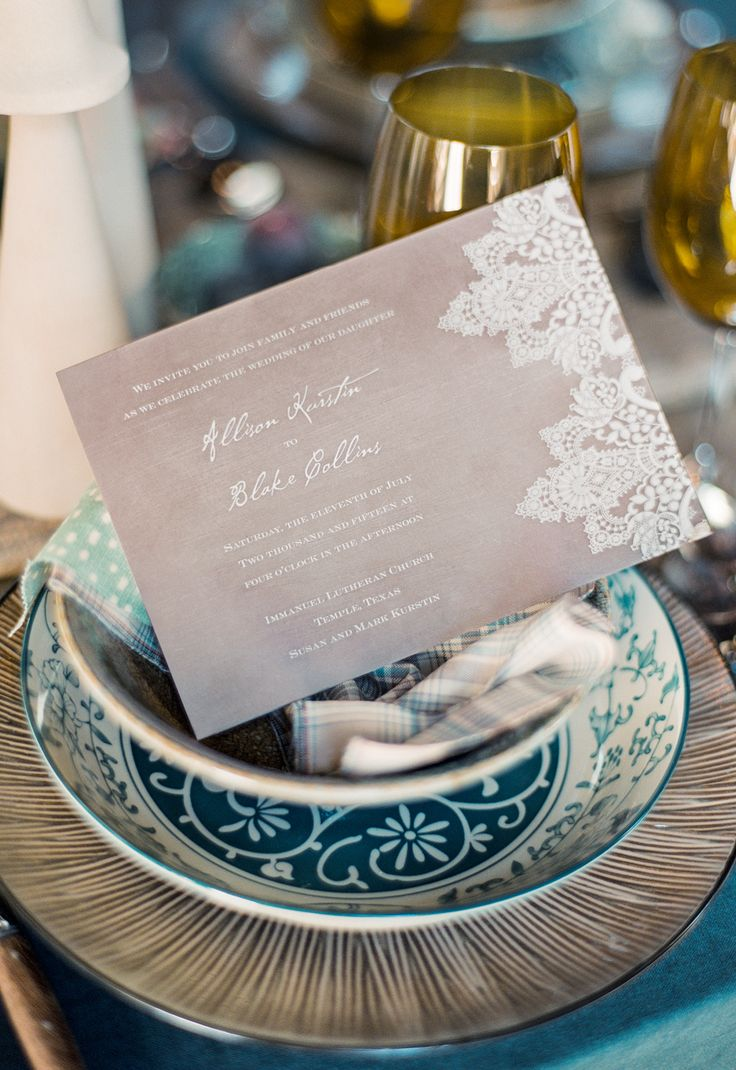 Vintage Lace Wedding Invitation By Invitations By Davidu0027s Bridal