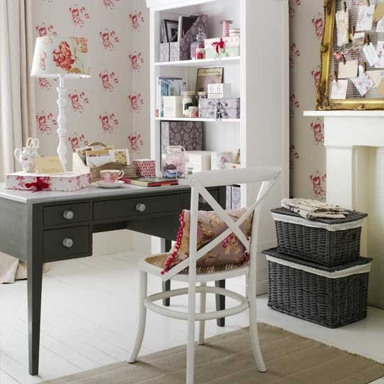 Pretty work space | Country style home office ideas | Home office | PHOTO GALLERY | Ideal Home | Housetohome.co.uk