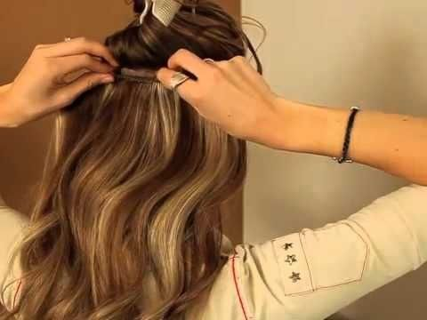 Such an awesome clip in hair extension tutorial