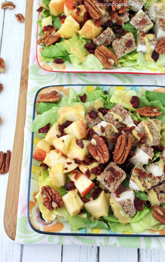 Pecan Crusted Chicken Salad with Apples & Bacon: Pecan Chicken Salads ...