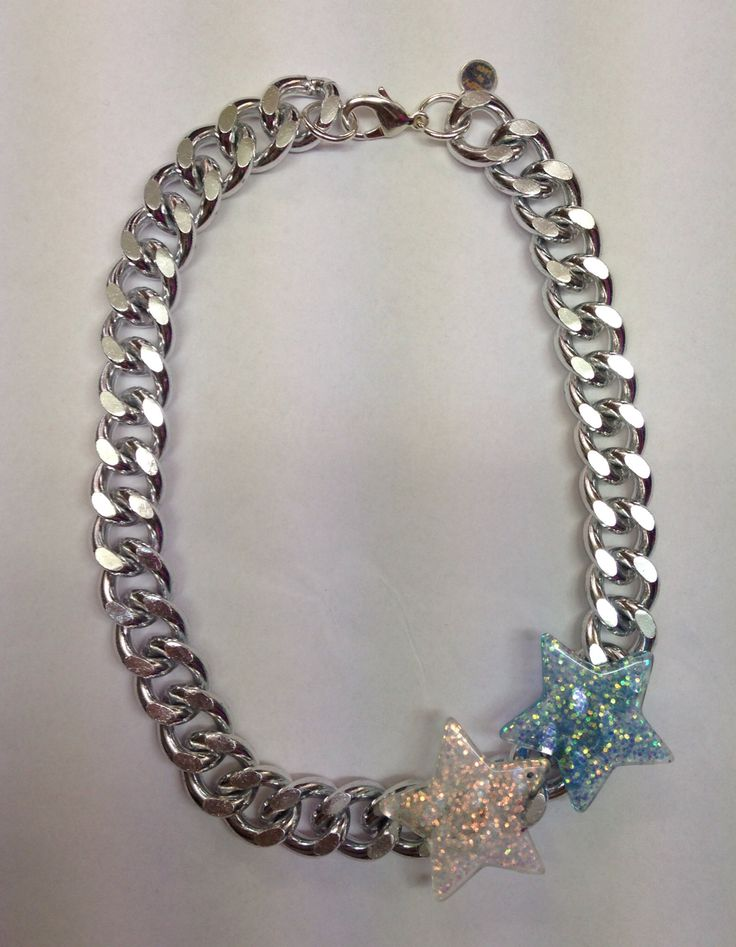 Collar STARS MAXI CHAINS blue