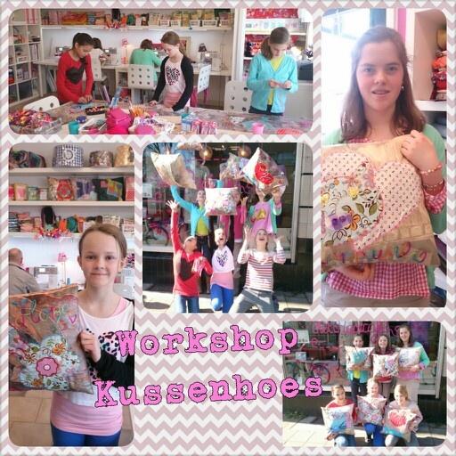 Kussenhoes maken als kinderfeestje!!