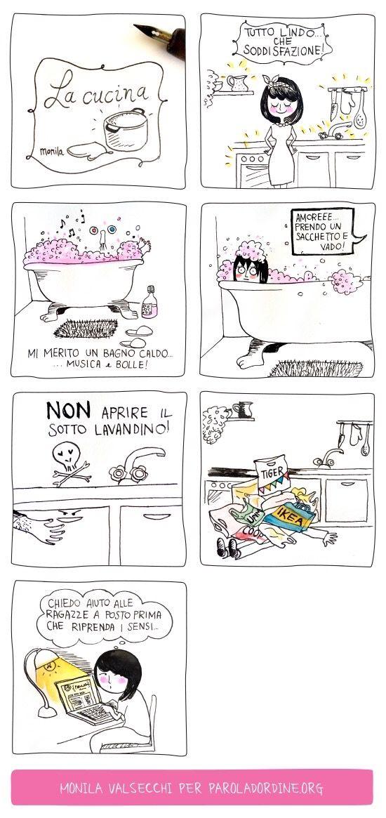 Monila, i ghirigori di Monila, la cucina ,Paroladordine