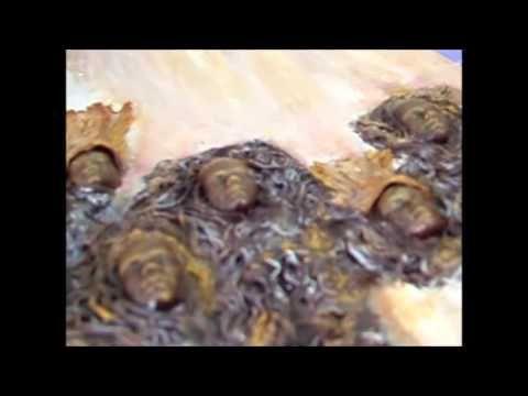 Καμβάς με PowerTex γύψινα διακοσμητικά ύφασμα και σημύδα - YouTube