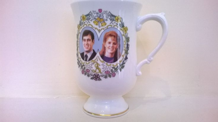 Prince Andrew & Sarah Ferguson Royal Wedding Mug 1986, Commemorate The Wedding Miss Sarah Margaret Ferguson And HRH Prince Andrew,English by billingsleyson on Etsy