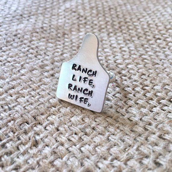 Cattle Ear Tag Ring, Ranch Wife Ring, Cow Ear Tag Ring, Custom Ear Tag, Stockshow Mom Ring, Cattle Brand Ring, Cattle Ring, Stockshow Mom