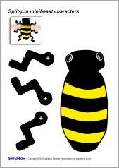 Split-pin minibeast characters (SB2485) - SparkleBox