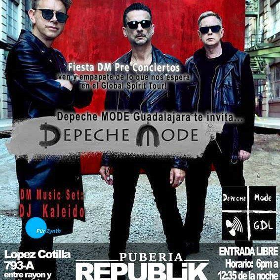 As Every Year Dj Kaleido From Pür Zynth Will Be In The Mix At Depeche Mode S Biggest Party Of The Year In Republikgdl Guadalajara Mx In 2020 Depeche Mode Concert Dj