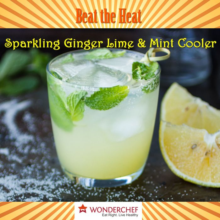 11 best beat the heat this summer images on pinterest drink sparkling ginger lime and mint cooler a minty fresh drink that adds zing to your forumfinder Images