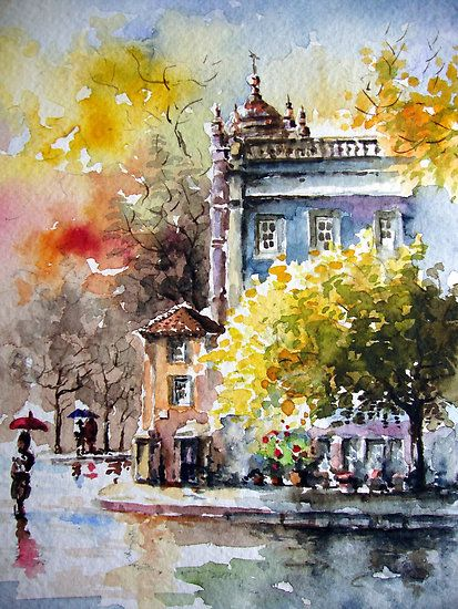 passion for watercolour.. by Almeida Coval ~ love the ambience