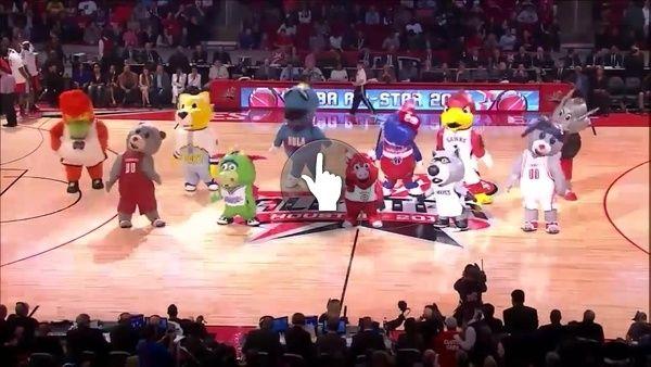 """""""NBA Mascots Inflatables dancing """" by Krum Krumov"""