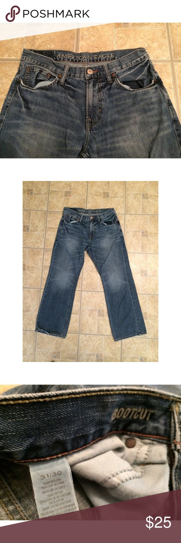 American Eagle Jeans for Men Pre-Owned, Bootcut American Eagle jeans for Men. Size 31/30, Lightwash Denim. American Eagle Outfitters Jeans Bootcut
