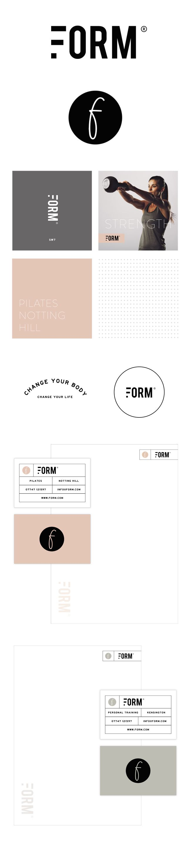 Brand Identity For Form | Love the tall bold letters in the logo and the color palette - beautiful, simple and yet characteristic