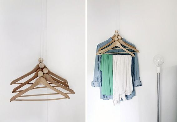 entryway coat hanger ideas :: credit: RAM SAM SAA [http://ramsamsaa.blogspot.fi/2012/07/diy-coat-rack.html]