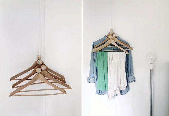 entryway coat hanger ideas :: credit: RAM SAM SAA [http://ramsamsaa.blogspot.fi/2012/07/diy-coat-rack.html]