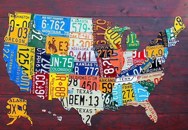 In de VS wordt in iedere staat een andere kentekenplaat gehanteerd. Ze verschillen erg van de Nederlandse nummerborden. Hun unieke vorm en indrukwekkende symbolen maken ze wereldwijd erg geliefd onder verzamelaars. Design Turnpike maakt kunst van kentekenplaten. Hun bekendste werk is de US License Plate Map waarop iedere staat gevormd wordt door een deel van […]